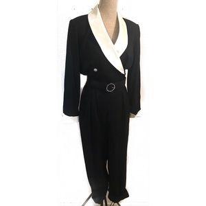 Vintage 80's working girl jumpsuit romper